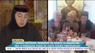 Ileana Ciuculete, momente de linişte la mănăstire! Artista se reculegea la Mănăstirea Găneasa