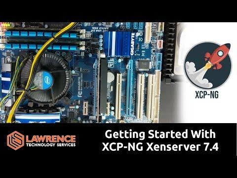 XCP NG Xenserver 74 Install Tutorial From bare metal to loaded VM using XenCenter