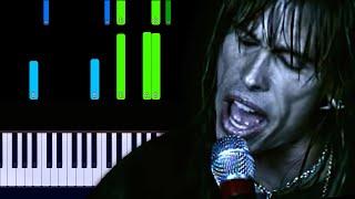 Aerosmith - I Don't Want to Miss a Thing Piano Tutorial видео