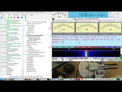 Free Remote Rig operating setup for HAM RADIO - using Linux software and simple CW keying circuit