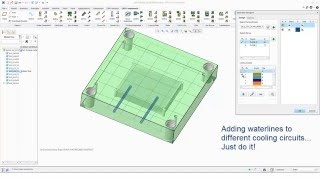 Creo Parametric - Expert Moldbase Extension 9.0 - New Waterline Designer