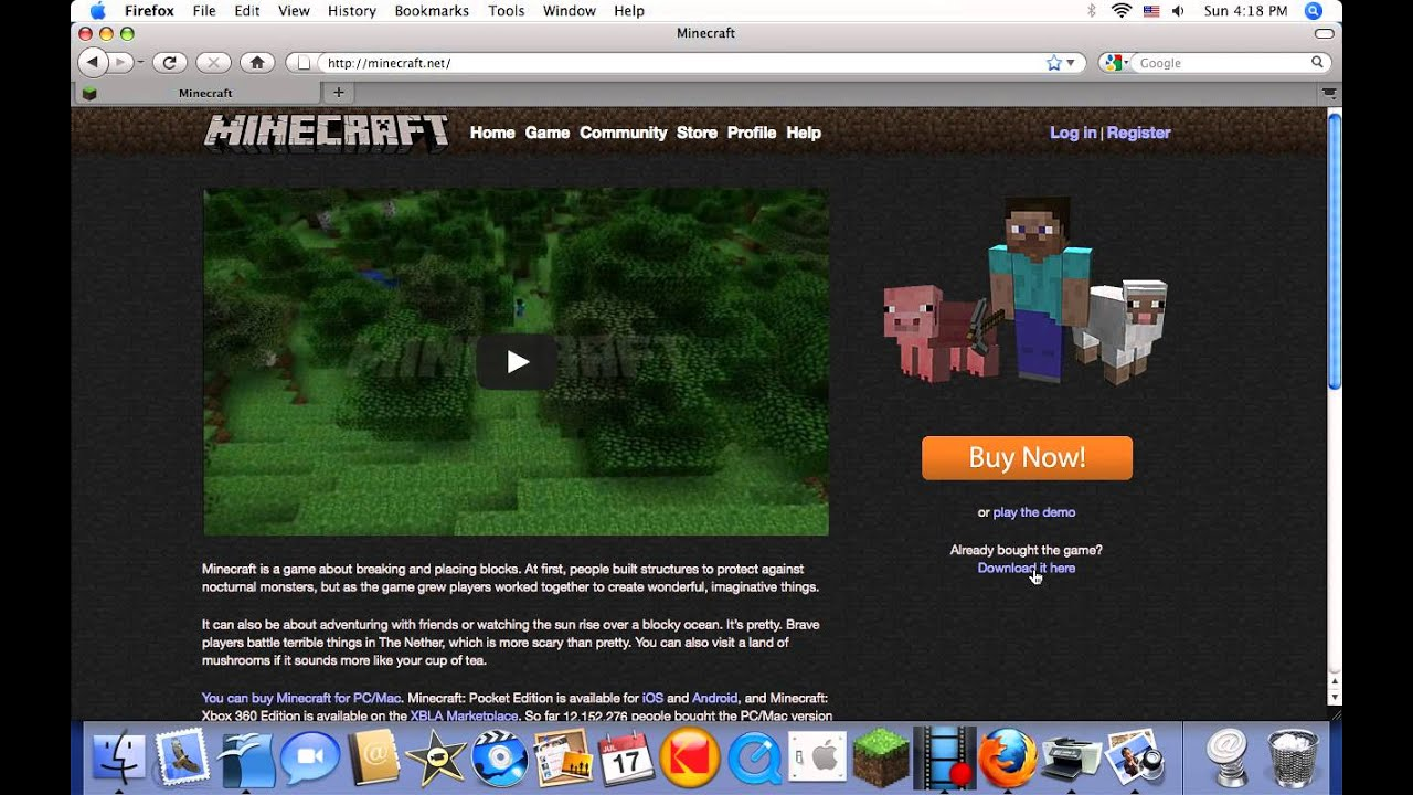 download older versions of minecraft for mac