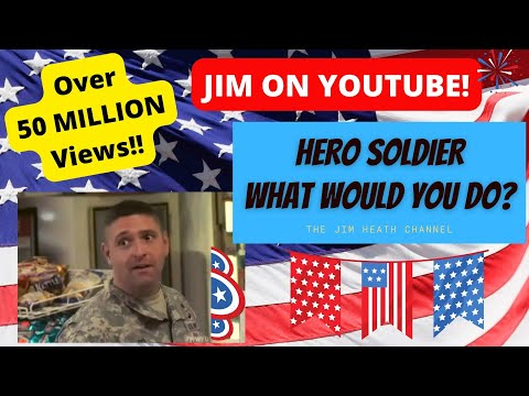 Soldier Defends Muslim Worker