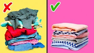 27 CLOTHES FOLDING HAĊKS AND WARDROBE ORGANIZATION