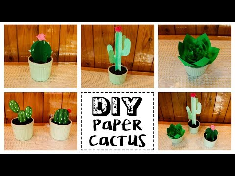 DIY PAPER CACTUS (ORIGAMI) EASY TO DECOR ANY SPACE | ARELI DURAZO