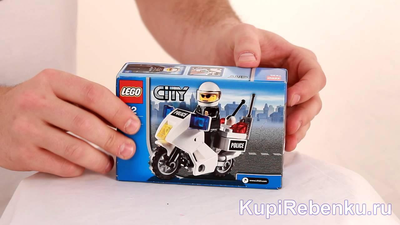 Lego City Полицейский мотоцикл 7235 - YouTube