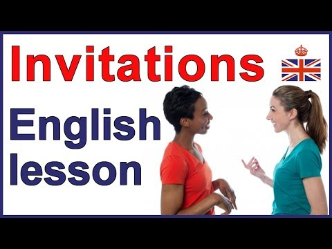 5 ways to give an invitation - English lesson