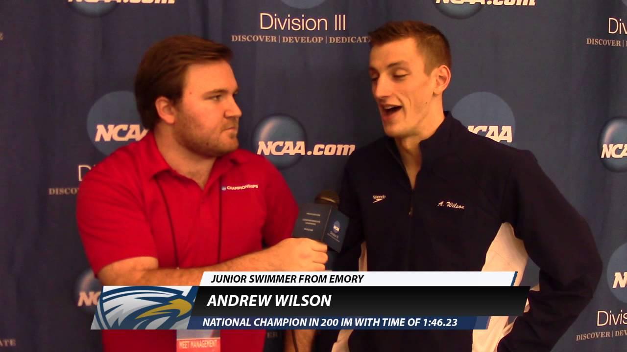 wyprzedaż w sprzedaży świeże style nowe wydanie Andrew Wilson, Emory - 200 IM Men's Champion (#d3swim)