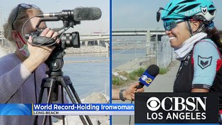 CBS Full Interview w/ Shangrila Rendon about her World Record Setting Ironman Race