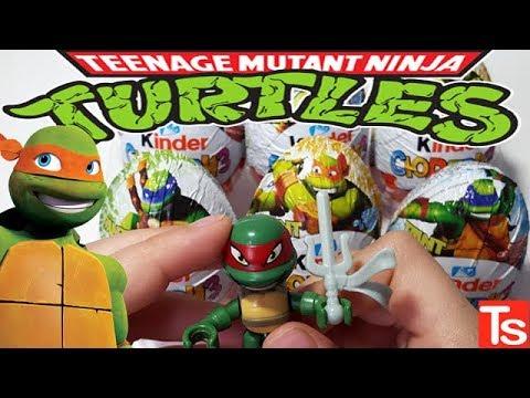 Киндер Сюрприз ЧЕРЕПАШКИ НИНДЗЯ 2018! Unboxing Kinder Surprise Turtles 2018