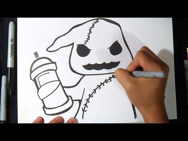 Comment dessiner un fant me graffiti 123vid - Tete de monstre a dessiner ...