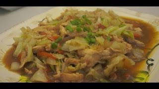 Ginisang Repolyo Manok Recipe Pinoy Cabbage Chicken Filipino Tagalog