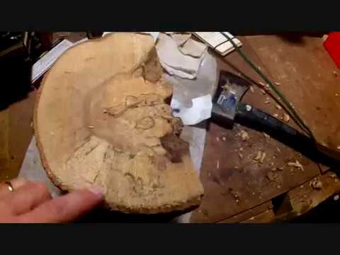 Turn a rotten log into a bowl