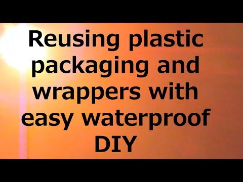 Reusing plastic packaging and wrappers +EASY  waterproof DIY Mp3