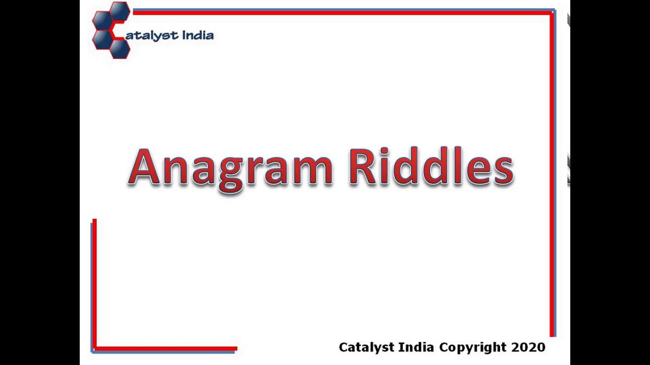 small resolution of BDC Worksheet Instructions - Anagram Riddles - YouTube