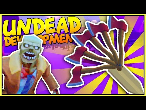 CREATING THE LONGEST STRONGEST MELEE WEAPON IN THE WORLD - Undead Development Gameplay - VR HTC Vive