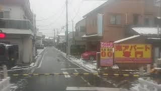 西武6000系雪の日の急行本川越全区間車窓走行音