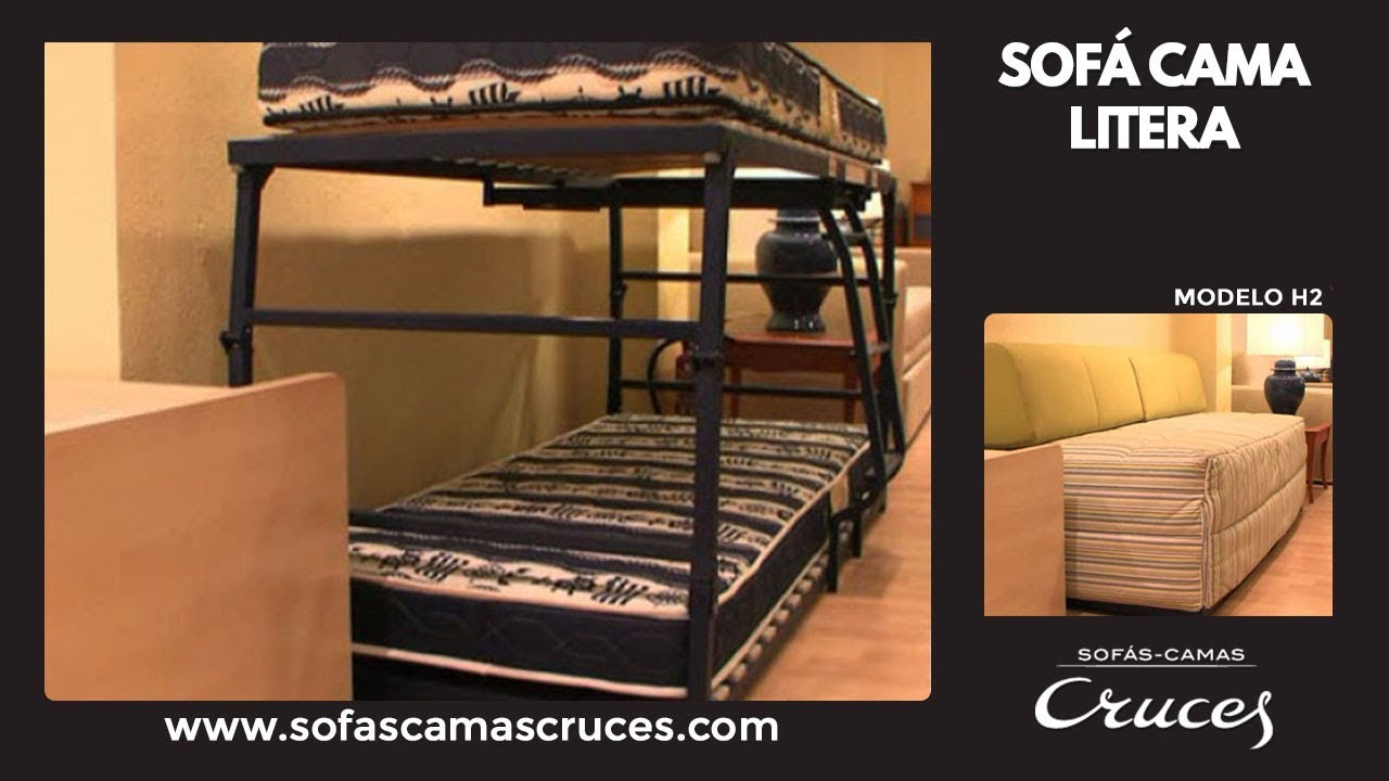 Sof cama litera plegable youtube for Sofa cama plegable