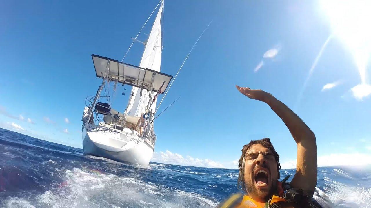 Sailing SV Delos- Man Overboard Drill