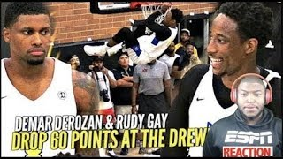DeMar DeRozan  Rudy Gay TEAM UP  Drop 60 POINTS At The Drew League!! DeMar All Smiles! 1