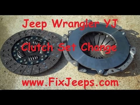 Clutch Problem with the Jeep Wrangler YJ - Time to replace with a new kit.
