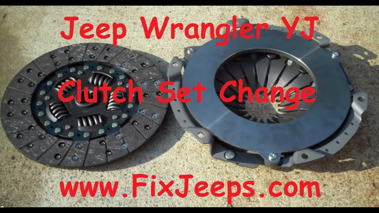 small resolution of clutch problem with the jeep wrangler yj time to replace with a new kit