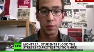 Tens of thousands protesters on the streets of Montreal