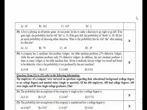 Final Revision - Statistics