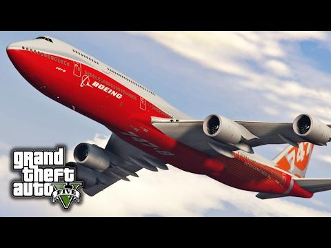 GTA V E49 - Boeing 747-8i Emergency Landings | Mod Showcase