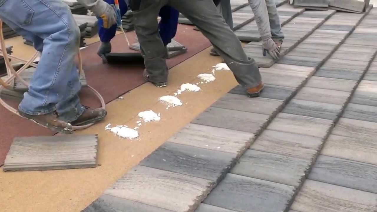 Tile Roof System With Poly Foam Youtube