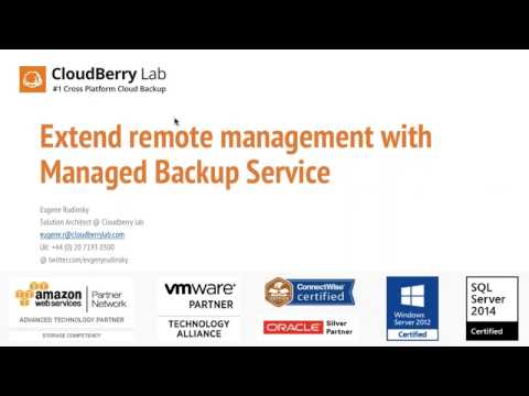 Remote assistance, RDP in Managed Backup Service MBS
