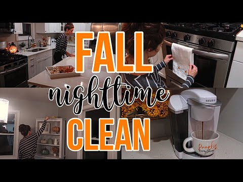 🌙 AFTER DARK FALL CLEAN WITH ME 2018 | CLEANING MOTIVATION | CLEANING ROUTINE | COLLAB