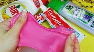 4 Лизуна из шампуня зубной пасты Слайм без клея и с клеем Как сделать?