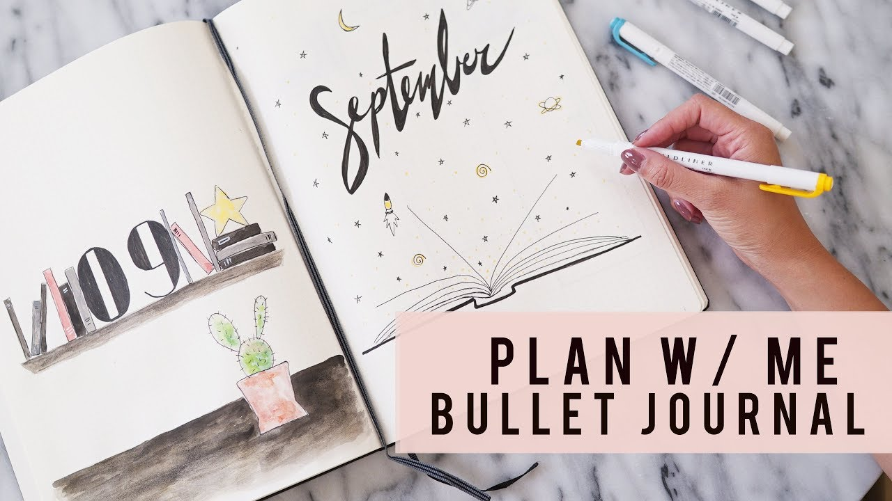 Plan with me september 2017 bullet journal ann le for Plan me