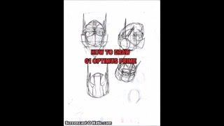 How to Draw Optimus Prime The torso part 1
