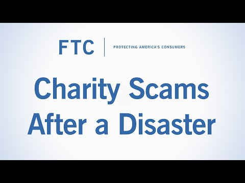 Charity Scams After a Disaster | Federal Trade Commission