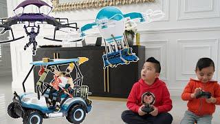 CRAZY Fortnite Drones and RC Kart CKN