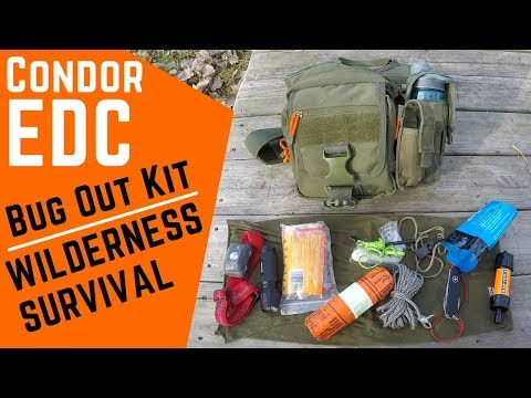 Bug Out Bag for Wilderness Survival Condor EDC Shoulder Pack Loadout