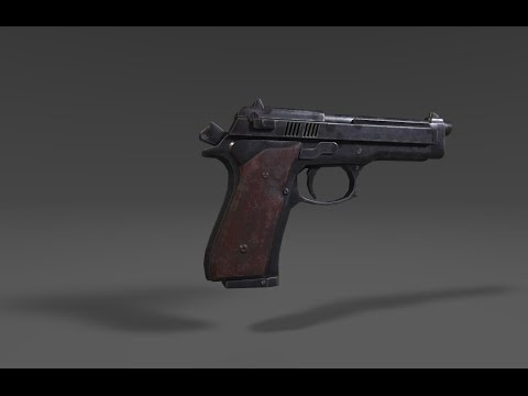 Texturing Low poly M9 3ds max -Substance painter tutorial final part
