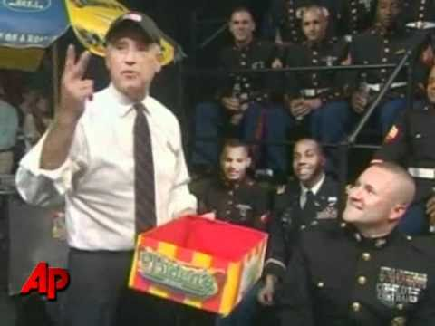 Biden Hands Out Hot Dogs to Troops on