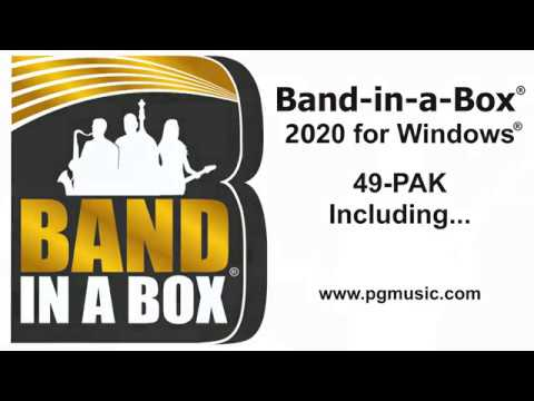 Band-in-a-Box® 2020 for Windows® - 49-PAK Overview