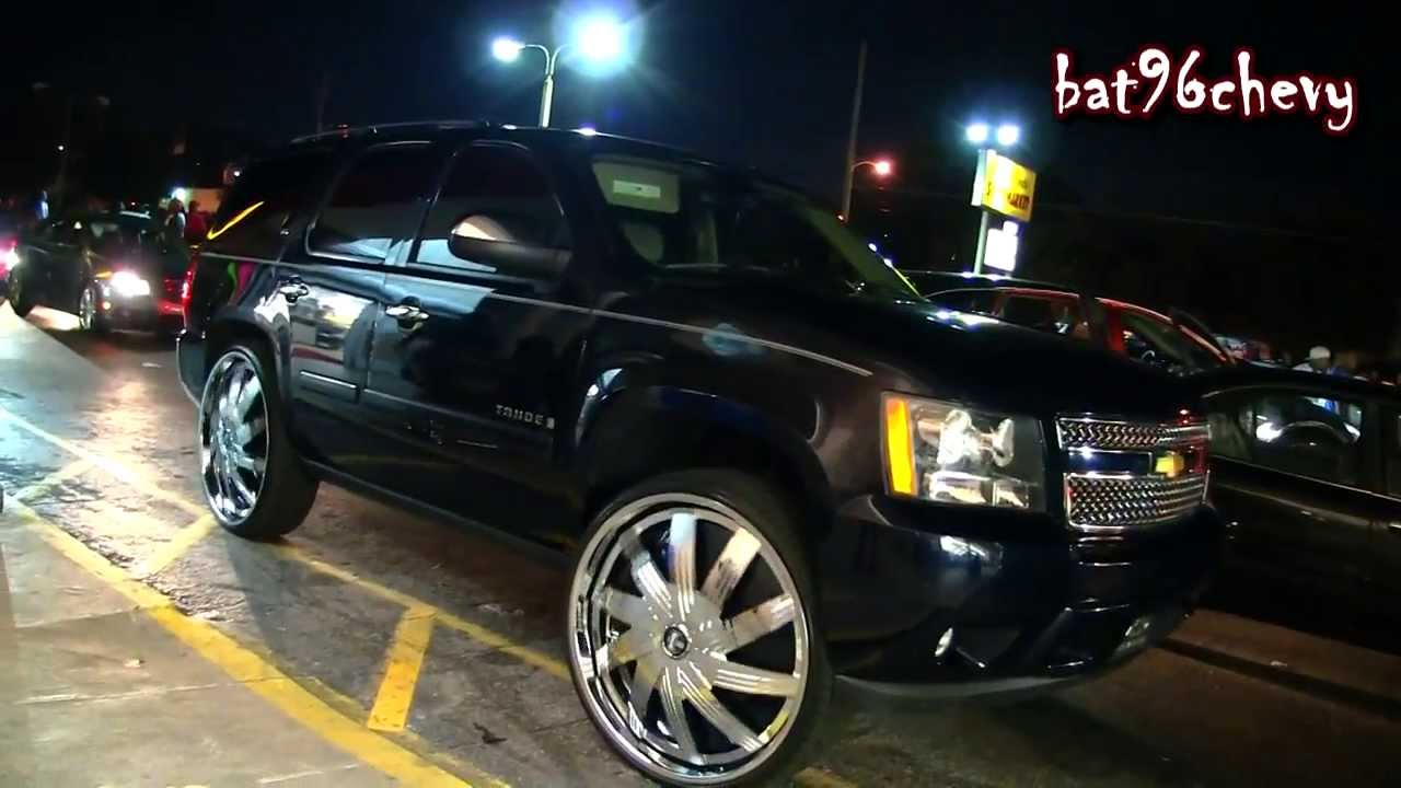 Black Chevy Tahoe On 30 Quot Dub Nolia Floaters 1080p Hd