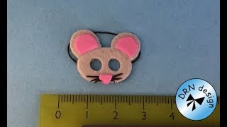 polymer Clay Miniature  - Fastalavns / Carnivals Mouse Mask
