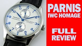Parnis Homage of IWC Portuguese - FULL REVIEW - I Review Crap!