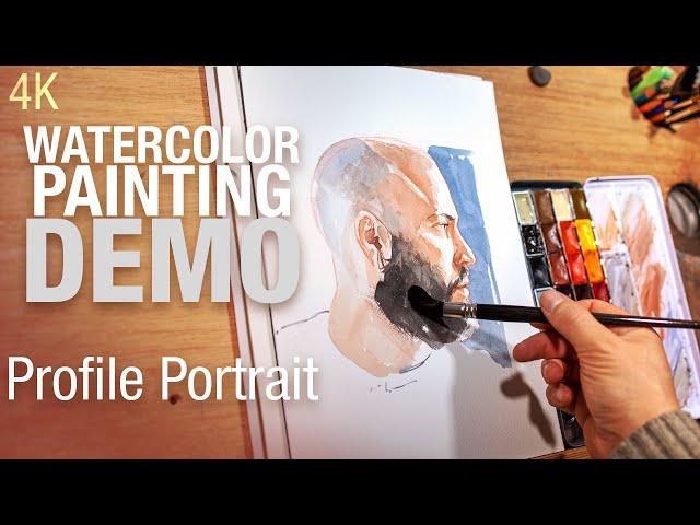 Comment peindre un portrait de profil à l'aquarelle 4K