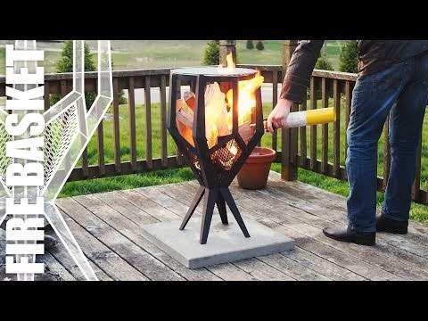 Fire Basket | Making an Outdoor Grill for the Patio