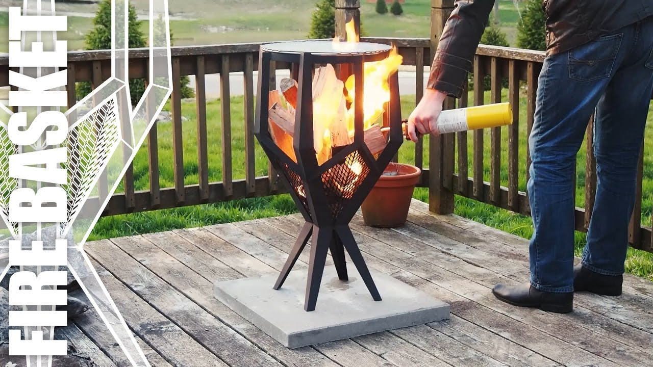 Fire Basket Making An Outdoor Grill For The Patio YouTube