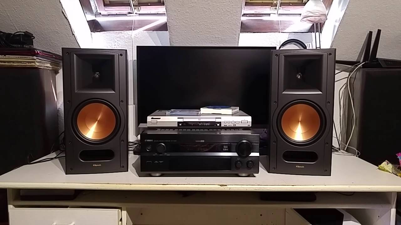klipsch rb 81 mk2 rodage sur yamaha rx v1300 youtube. Black Bedroom Furniture Sets. Home Design Ideas