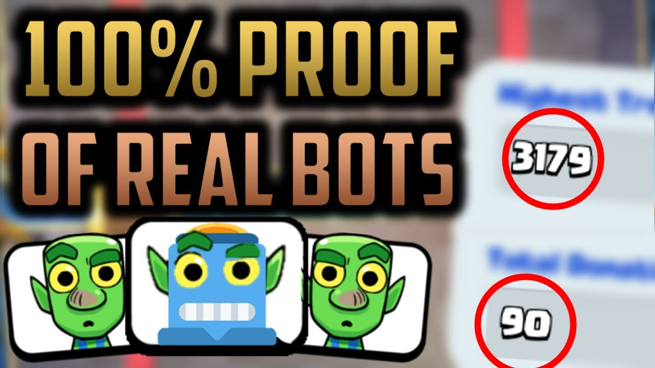 PROOF of LADDER BOTS in Clash Royale...