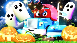 cadılar bayramı içi lunapark canavarı süper kamyon carl araba şehrinde Çocuklar için